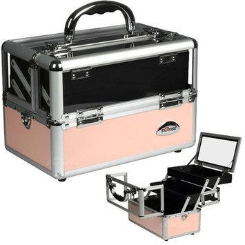 Sunrise Cases Cosmetic Makeup Train Case Color: Pink