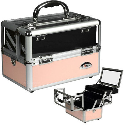 Sunrise Cases Cosmetic Makeup Train Case Color: Pink