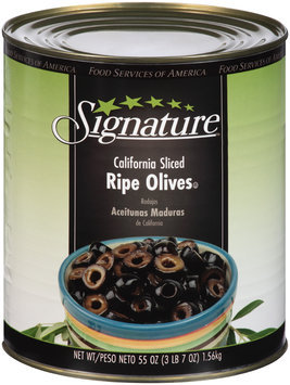 Signature™ California Sliced Ripe Olives 55 oz. Can