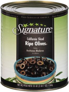 Signature™ California Sliced Ripe Olives 55 oz. Can