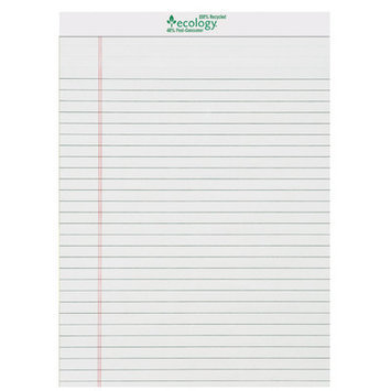 Pacon Creative Products Pacon 8-1/2 X 11-3/4 White Ecology Legal Pad 72 Sheets