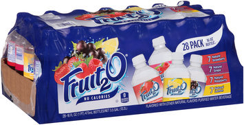 Fruit2O® Natural Strawberry/Grape/Raspberry/Lemon Purified Water Beverage 28 ct Tray