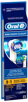 Oral-B 3 Precision Clean® + 1 Floss Action® Replacement Brush Heads Bonus Pack Carded Pack