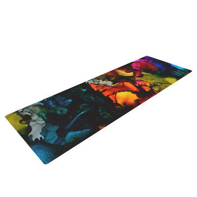 Kess Inhouse Hippie Love Child by Claire Day Yoga Mat