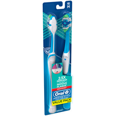 Pro Health Oral-B Pro Health Sugar Defense Manual Toothbrush, 2CT Medium