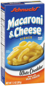 Schnucks Macaroni & Cheese White Cheddar Pasta Dinner 7.3 Oz Box