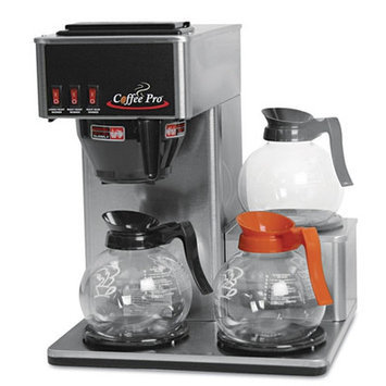 Originalgourmetfoodco Coffee Pro Three-Burner Low Profile Institutional Coffee Maker