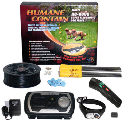 High Tech Pet Products, Inc. Humane Contain Electronic Fence and Sonic Trainer Combo