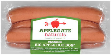 Applegate Naturals®* Uncured Big Apple Hot Dog™ Hot Dogs 12 oz. Pack