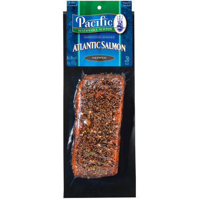 Pacific Sustainable Seafood™ Pepper Hardwood Smoked Atlantic Salmon 4 oz. Pack
