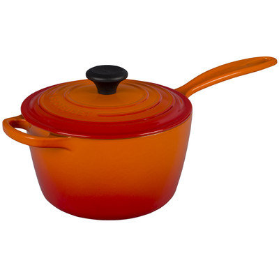 Le Creuset 2.25-qt. Saucepan Color: Flame