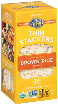 Lundberg® Organic Thin Stackers™ Brown Rice Salt-Free Puffed Grain Cakes 24 ct Box