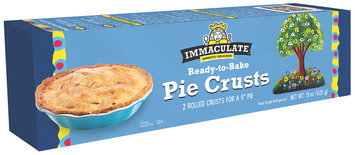 Immaculate® Ready-to-Bake 9 Inch Pie Crusts 2 ct Box
