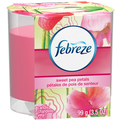 Candle Febreze Candle Sweet Pea Petals Air Freshener (1 Count, 3.5 Oz)