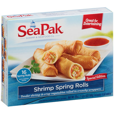 SeaPak™ Shrimp Spring Rolls with Dipping Sauce 20 oz. Box