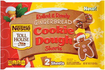 Nestlé TOLL HOUSE Holiday Gingerbread Sheets Cookie Dough 16 oz. Sheet
