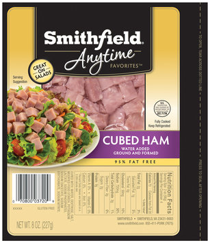 Smithfield® Anytime Favorites™ Cubed Ham 8 oz. Pack