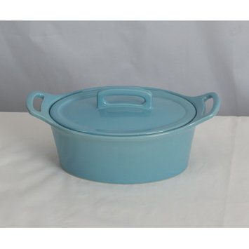 Omniware Stoneware Oval Casserole Size: Small, Color: Turquoise