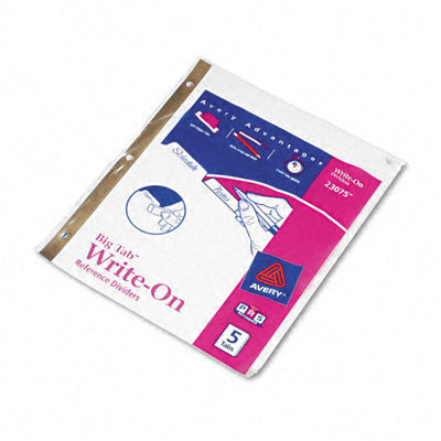 Avery Big Tab Write-On Divider with Erasable Laminated Tab