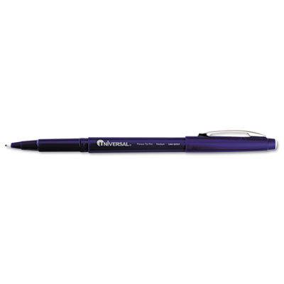 Universal Products Universal Office Products 50501 Porous Point Stick Pen Blue Ink Medium Dozen
