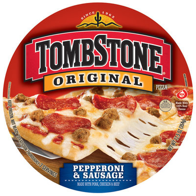 TOMBSTONE Original Pepperoni & Sausage Pizza 12.5 oz.
