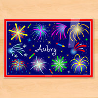 Olive Kids Fourth of July Fireworks Personalized Placemat