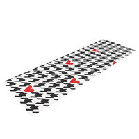 Kess Inhouse Spacey Houndstooth Heart by Empire Ruhl Yoga Mat
