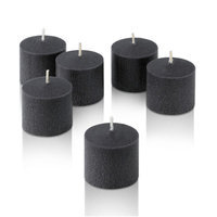 Light In The Dark Unscented Votive Candles (Set of 12) Color: Black