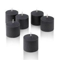 Light In The Dark Unscented Votive Candles (Set of 12) Color: Black