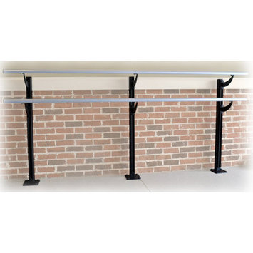 Vitavibe Floor Barre Series Modern Aluminum Double Bar Ballet Barre Kit Size: 4 ft.
