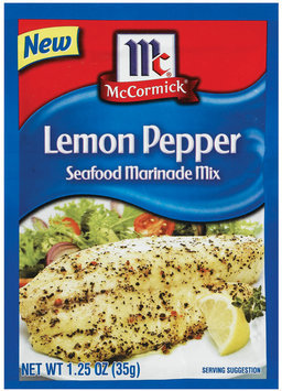 McCormick® Golden Dipt® Lemon Pepper Seafood Marinade Mix