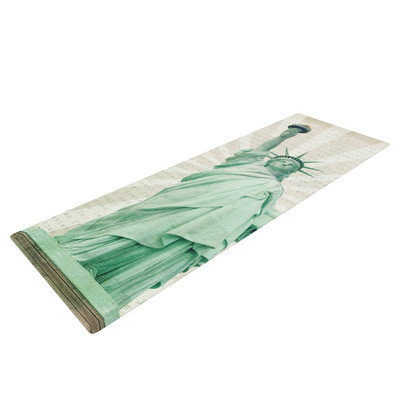 Kess Inhouse The Lady by Catherine McDonald Statue of Liberty Yoga Mat