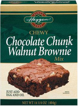 Haggen Chewy Chocolate Chunk Walnut Brownie Mix 14.25 Oz Box