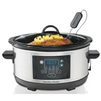 Hamilton Beach - Set & Forget 5-quart Slow Cooker - Silver