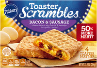 Pillsbury Toaster Scrambles™ Bacon & Sausage Toaster Pastries 4 ct Box