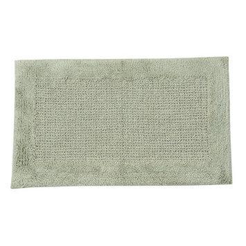 Textile Decor Castle 100% Cotton Naples Spray Latex Back Bath Rug, 40 H X 24 W, Light Sage