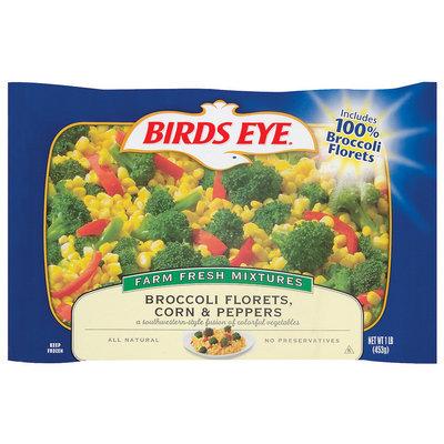 Birds Eye  Broccoli Florets Corn & Peppers 1 Lb Bag