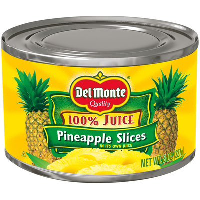 Del Monte® Pineapple Slices in 100% Pineapple Juice 8 oz. Can