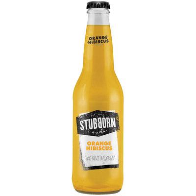 Stubborn Soda™ Orange Hibiscus 12 fl. oz. Glass Bottles