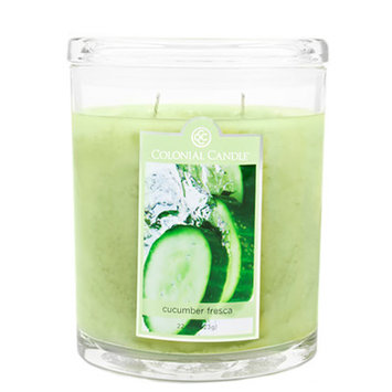 Fragranced in-line Container CC022.2177 22oz. Oval Cucumber Fresca Candles