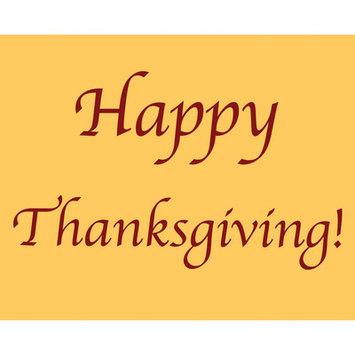 Secretly Designed Gold Happy Thanksgiving Art Print