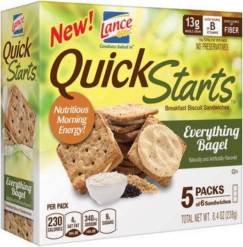 Lance® Quick Starts™ Everything Bagel Breakfast Biscuit Sandwiches 8.4 oz. Box