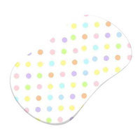 Stwd Pastel Polka Dots Woven Fitted Bassinet Sheet