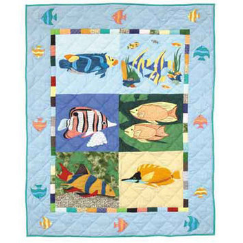 Patch Magic QCOCSH Ocean Schools Quilt Crib 36 x 46 in.