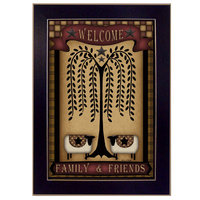 Millwork Engineering Welcome Family & Friends' Framed Art