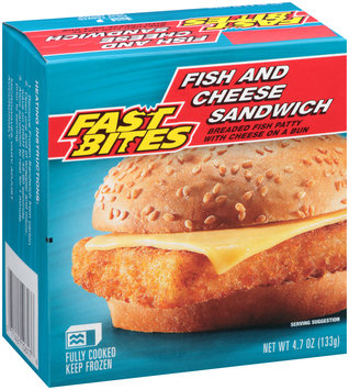Fast Bites Fish and Cheese Sandwich