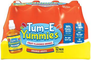 Tum-E Yummies Orange-Arific Fruit Flavored Drink 12-10.1 fl. oz. Plastic Bottles