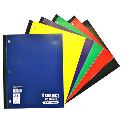 Norcom, Inc 80 Sheets 1 Subject Wide Ruled Notebook