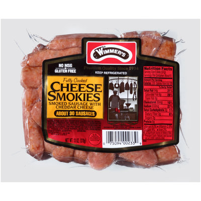 Wimmer's® Cheese Smokies Smoked Sausage with Cheddar Cheese 13 oz. Pack