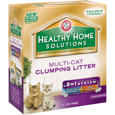 ARM & HAMMER™ Healthy Home Solutions Multi-Cat Clumping Litter
